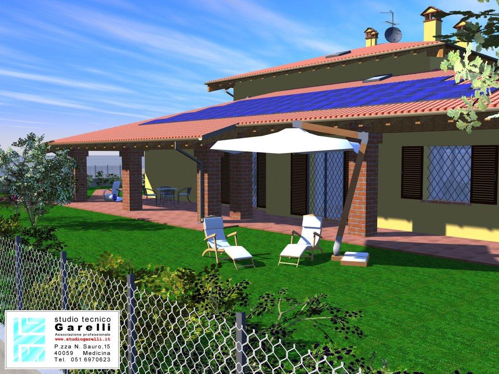 Interesting vista giardino fronte with progetti villette for Laghetto balneabile progetto