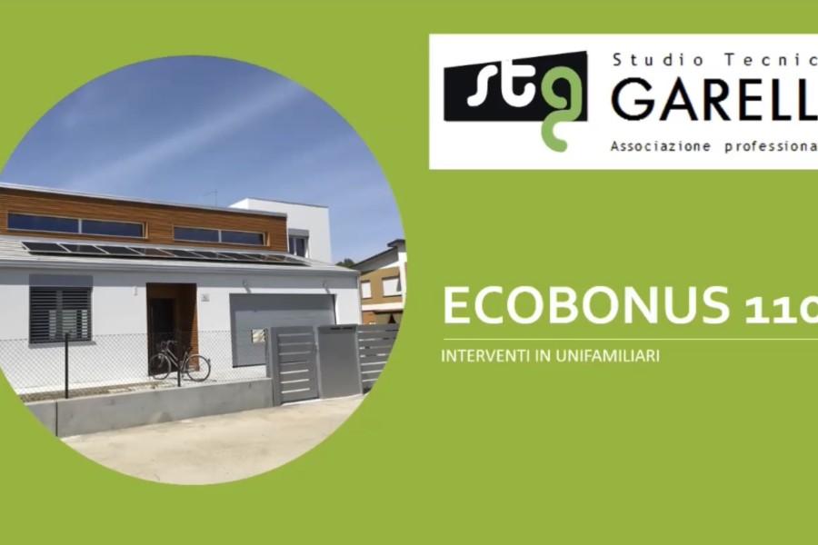 Ecobonus 110% – 3 interventi in villette unifamiliari Aggiornato con emendamenti